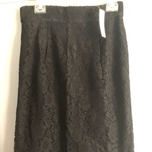 Black lace overlay formal skirt